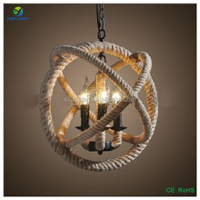 Large Orb Rope Pendant Light/Lamps With Vintage Led bulbs g125 st64
