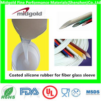 Liquid coated silicone rubber for fiber glass sleeve