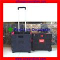 Dos ruedas de plástico de colores carro de equipaje plegable