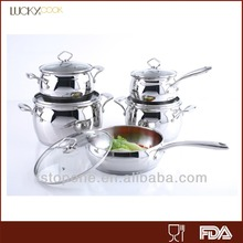 10pcs cooking pot utensils kitchen deep drawing stainless steel pan