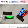 single color small brest plate led mini display p2 digital mini name led display badge