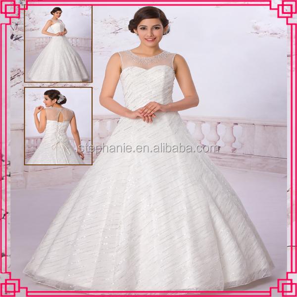 2015 guangzhou stephanie wedding dress a6950 real sample for Guangzhou wedding dress market