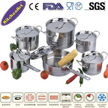 12pcs stainless steel cookware sets