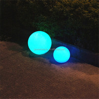 PBB-200 outdoor color changing plastic solar ball waterproof solar led globe