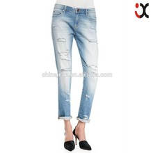 2015 new arrival girls low waist jeans ripped loose denim trouser(JXW072)