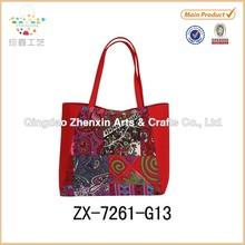 2015 Canvas &Cotton Jute Tote bag Fashion Handbags