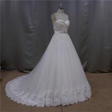 Pretty glaring brooch one shoulder ball gown wedding dress 2014