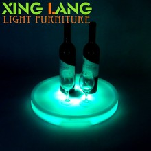 RGB color changing Waterproof illuminated plastic 3D led color change painting cube LED drink tray