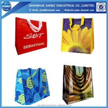 promotional LOGO printed plastic PP woven shopping bag