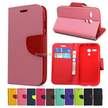 Fashion Book Style Leather Wallet Cell Phone Case for ACER E700 with Card Holder Design