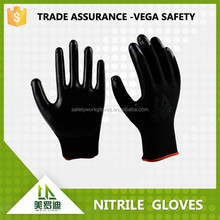 nitrile finger coated gloves protection gloves with 38g