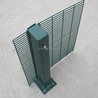 China supplier 358 high security easily assembled PVC coated welded wire mesh fence