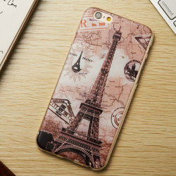 High-end Transparent Deluxe Sexy Phone Cover Custom Printed PC Hard Phone Case for Iphone 6 plus