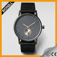 Top Sale Mens Genuine Leather Strap Quartz Watch Waterproof Japan Movement