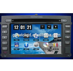 SA Touch Sceen Built-in Car DVD Player with GPS for Ssangyong Rextron
