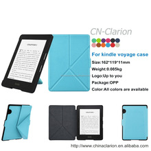 Book Style PU Leather Case Cover For Amazon Kindle Voyage Origami Tablet Case, Sky Blue