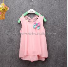 2015 new fashion dress kids chiffon net dress for summer kids girl short dress