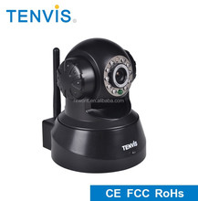 Hottest TENVIS hd 720p p2p cctv with night vision, best wifi ip camera wireless webcam