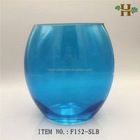 wholesale cheap colored glass fish bowl vases