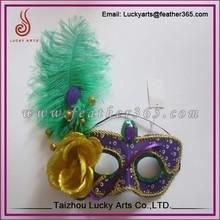 Taizhou Lucky Arts Customized Design ostrich feather mask