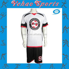 Custom made reversible sublimated soccer uniform with own logo