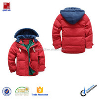Newest Design Little Boys' Winter Hooded Down Jacket