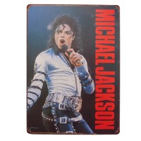 Vintage Wall Decoration Michael Jackson Tin signs