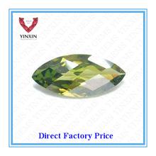 Bottom Price of Marquise Shape Peridot Green Synthetic Diamond