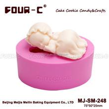 Baby girl mold Sleep baby mold cupcake topper mold Birth cake design New born