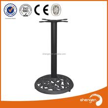 HD103 Foshan furnitur metal plastic Table Legs Cast Iron Table Base