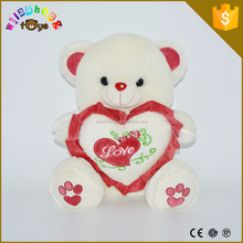 2015 Plush Valentines bear wholesale High quality soft animal baby comforter