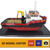 Custom miniature tugboat ship model