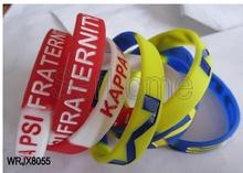 Party Souvenirs Customize Engraved Silicon Segmented Wristbands