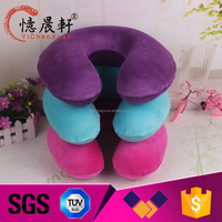 Supply all kinds of neck care pillow,neck protection cushion,green flocking inflatable neck pillow