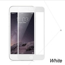 9H Hardness Anti-Ultraviolet Color Tempered Glass Screen Protector Case for iPhone 6 White