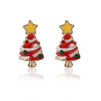 Imported in China Most Popular Items Festival Gift Crystal Earring Stud Christmas Tree Shape Christmas Earrings for Best Sister