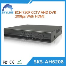AHD System 8CH free client software h.264 dvr AHD