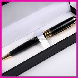 new china products for sale fancy high end black leather bag business metal roller pen