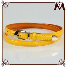 promotional fashion woman lady cheap leather belt evening dresses yellow pu waist belt