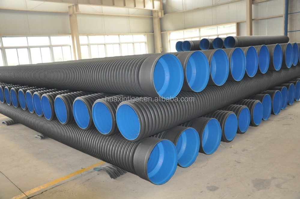 Manufacturer large diameter hdpe corrugated drainage pipe