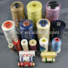 100% hecho girar poliester hilo de coser de venta al por mayor