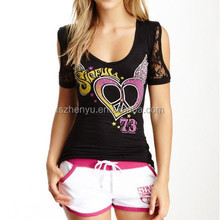 OEM Women Clothing Manufacture Wholesale Customized Women T Shirt Printed Women T Shirts