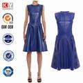 el último 2015 vestido de diseños de moda ropa más del tamaño de vestir de cuero