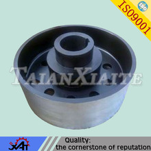 High performance alloy steel belt pulley,CNC machining,anti corrosion painted.OEM service.