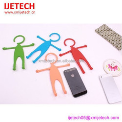 Human Shape Silicone funny cell phone holder for desk