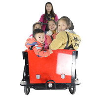 CE family bakfiets china three wheels electric pedal assisted cargo tricycle for kids
