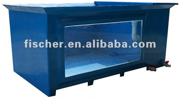 China Manufacturer Wholesale Aquarium Koi Pond Frp Fiberglass Fish Tank With Viewing Window And