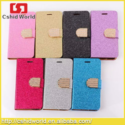 Luxury Glitter Bling Crystal Diamond Cellular PU Leather Wallet Case For iPhone 4 5 6 6plus