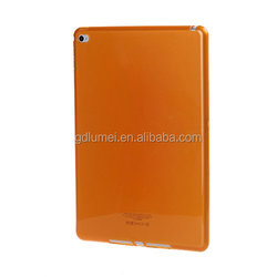 Ultra slim colorful semi-transperant soft TPU gel shell case silicone cover for ipad air 2