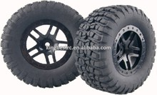 4Pcs 12mm Hex RC 1:10 Short Course Truck Tires&Wheel Rim For TRAXXAS SlASH HPI